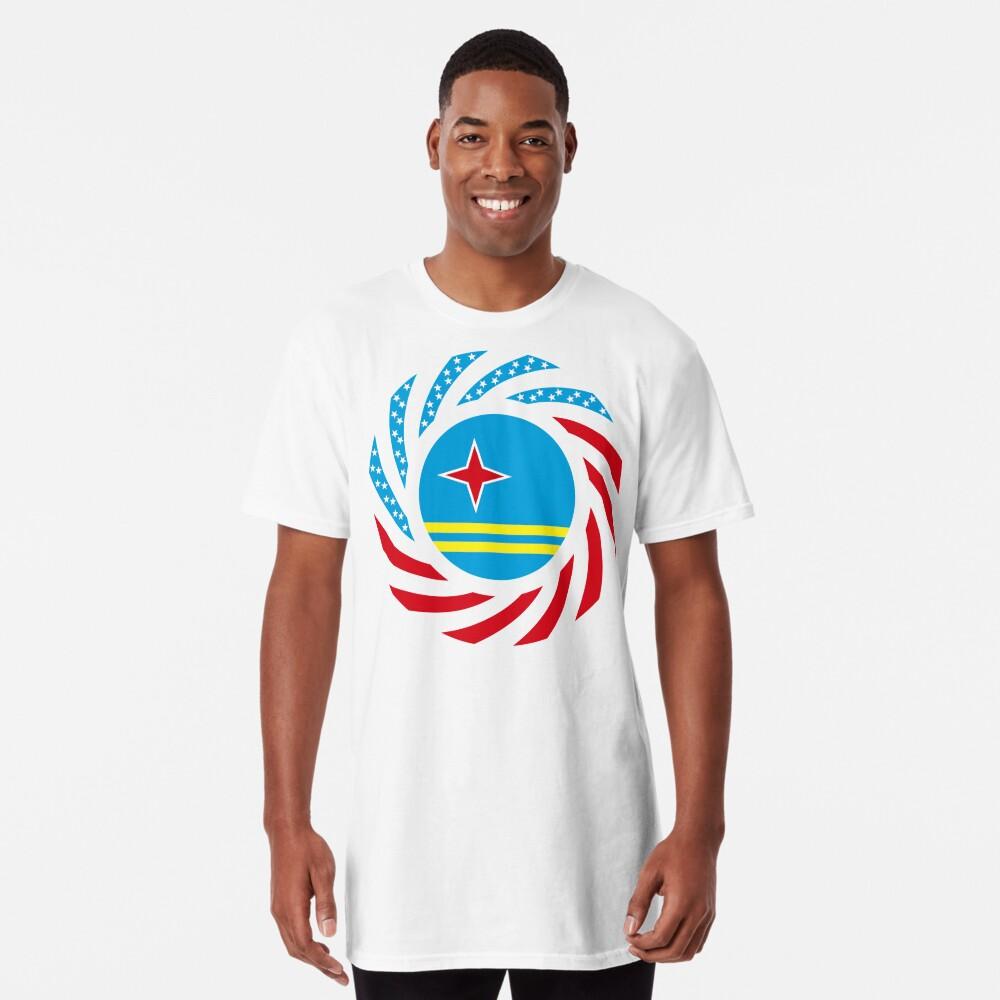 Aruban American Multinational Patriot Flag Series Long T-Shirt