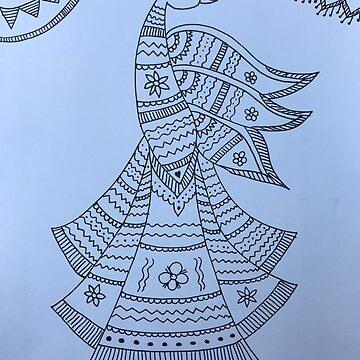 Madhubani Peacock by ranjaniart