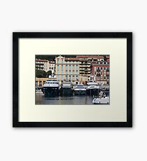Yachts in Nice Port Framed Print