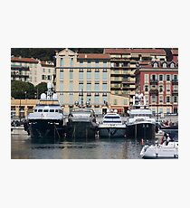 Yachts in Nice Port Photographic Print