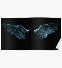 Blue wings Poster