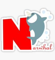 n for narwhal Sticker