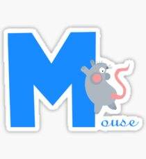 m for mouse Sticker