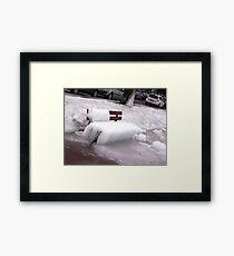 Frozen Bench  Framed Print