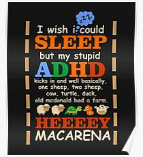 Adhd Quotes Funny Posters | Redbubble