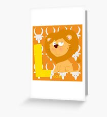 l for lion Greeting Card