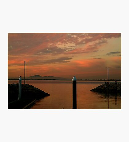 Sunset Limeberners Point,Geelong Photographic Print