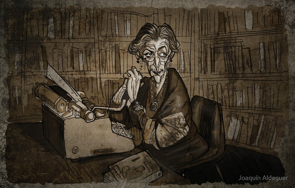 Librarian woman by Joaquín Aldeguer