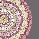Pink and Yellow Mandala by Hiirikki