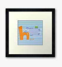 h for hippo Framed Print
