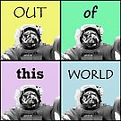 Out Of This World - Astronaut Pop Art by Printpix