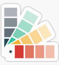 Designer Color Swatch Book Sticker