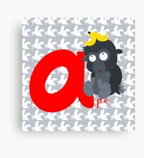a for ape Canvas Print