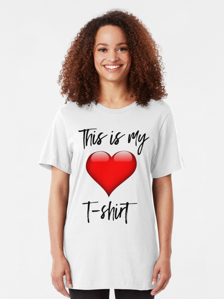 Alternate view of This is My Heart T-Shirt Slim Fit T-Shirt