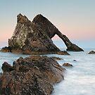 Bow Fiddle Rock Sunset - Port Knockie by Grant Glendinning