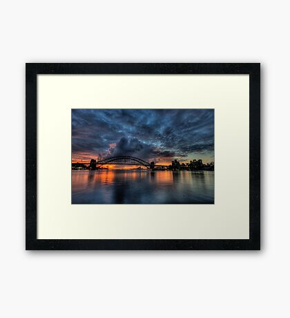 Twilight Dreaming - Moods Of A City - The HDR Experience Framed Print
