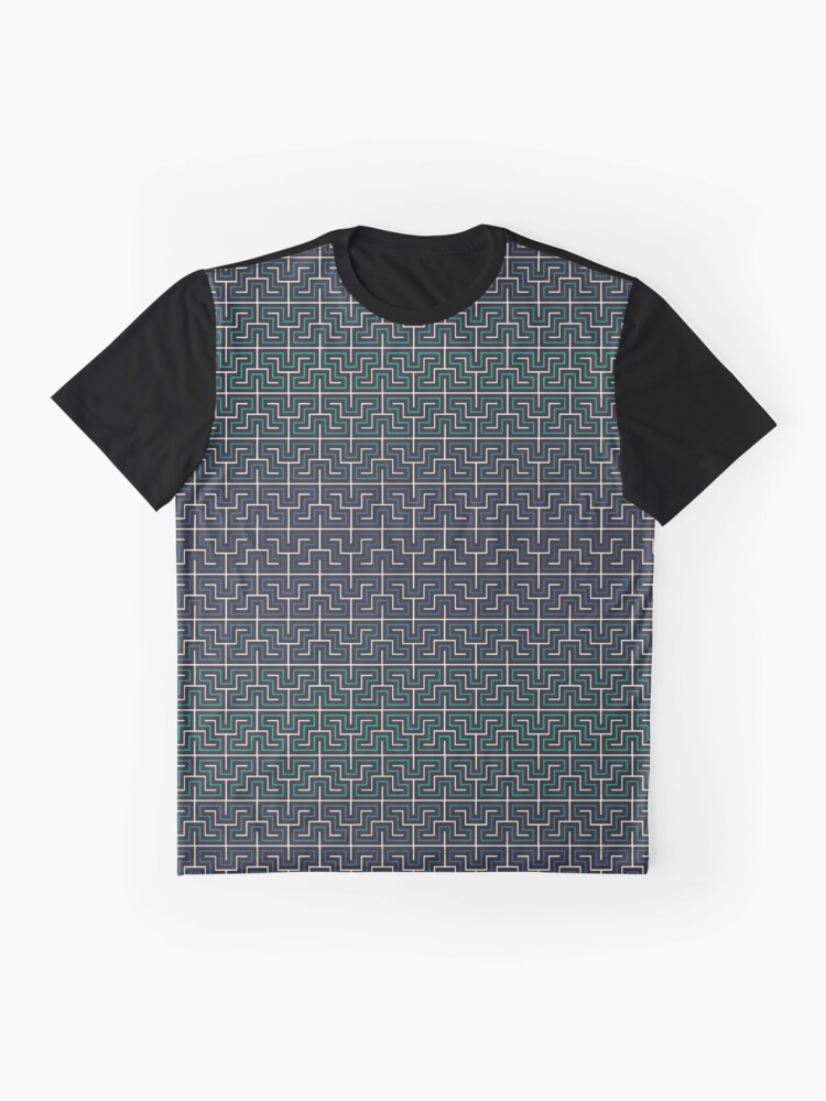 Alternate view of Winding River Pattern Graphic T-Shirt