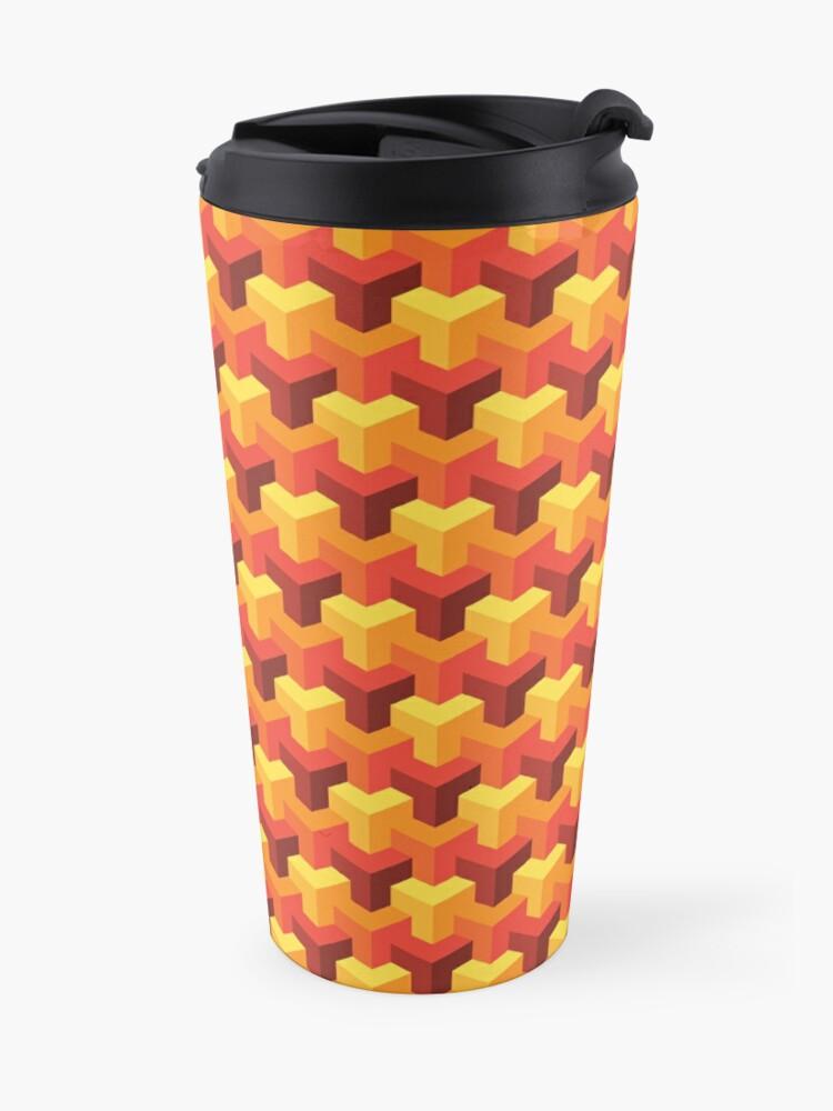 Alternate view of Hot Triad Pattern Travel Mug