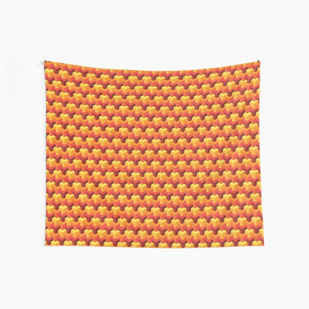 Hot Triad Pattern Wall Tapestry