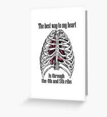 The Best Way to My Heart Greeting Card