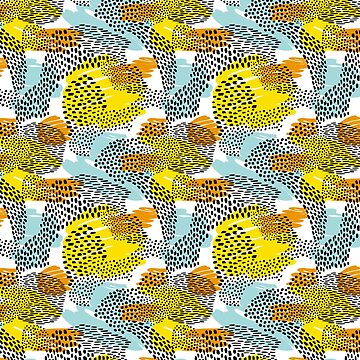 Fun and Colorful Abstract Animal Pattern by heartlocked