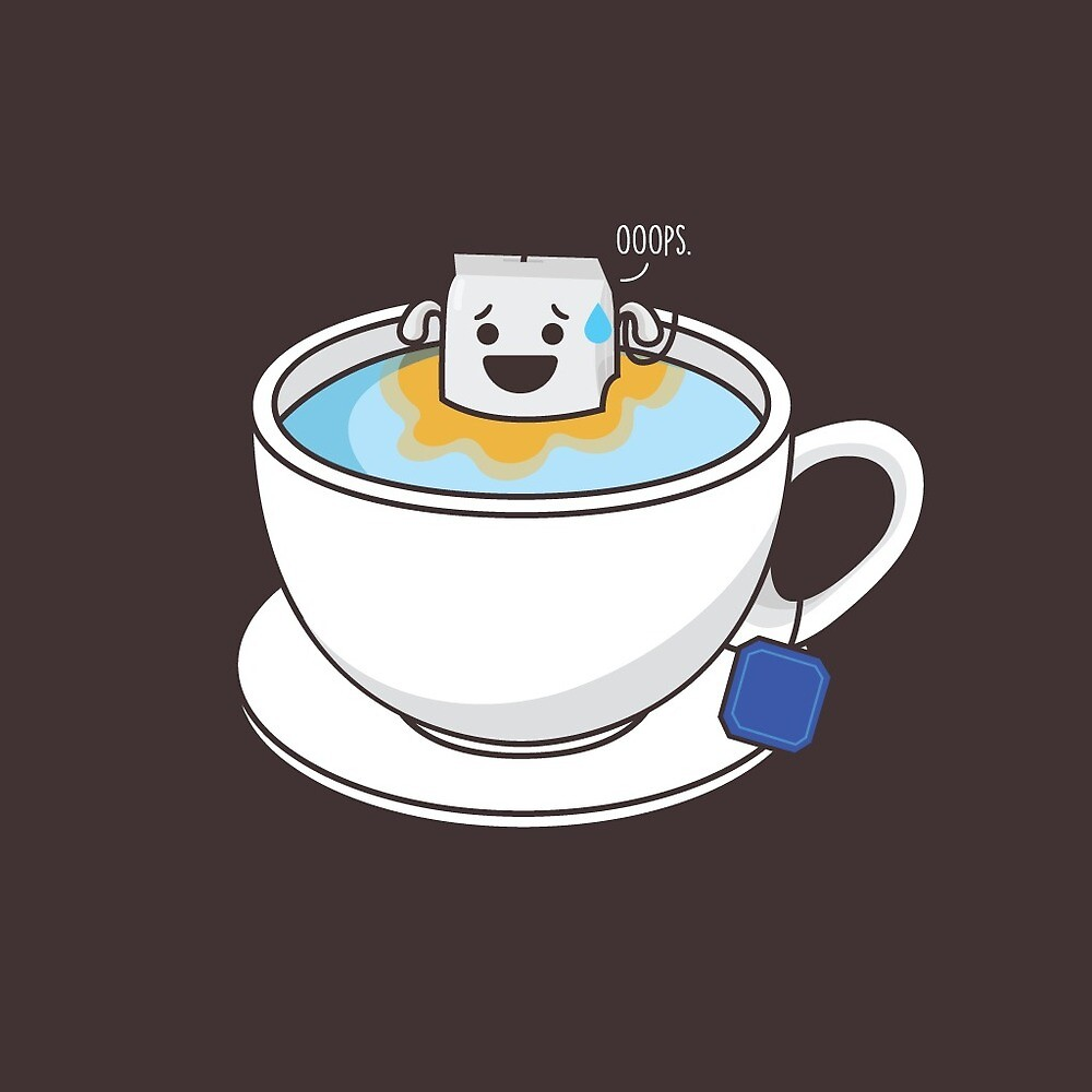 Everyone makes mistakes, even Tea. by Mark Julian Borg