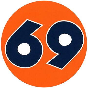 FLY69® 69 Orange Circle logo Spoof of 76 Service Station logo by Deadscan
