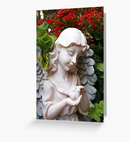 Caring; Wat Garden La Mirada, CA USA  Greeting Card