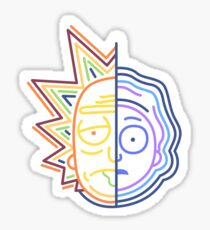 Abstract Rick Sticker