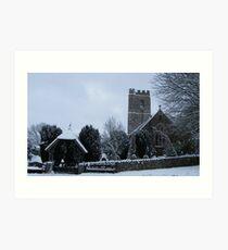 Lapford Church Art Print