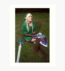 Song of Time Link Cosplay Print Art Print