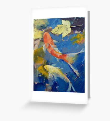 Autumn Koi Garden Greeting Card