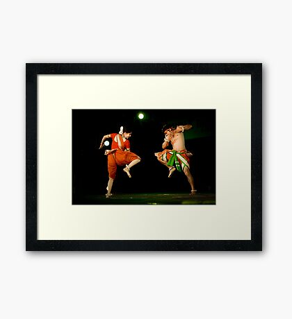 Contemporary Indian Classical Dance-7-Mamata Shankar Ballet Troupe  Framed Print