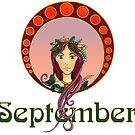 Lady September by Cynthia Haller