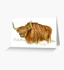 Yak Greeting Card