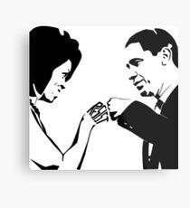 RESIST: Obama Fist Bump Metal Print