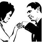 RESIST: Obama Fist Bump by Carbon-Fibre Media