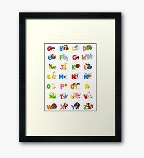 ABC (spanish) Framed Print