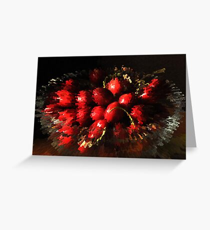 An explosion of cherries Greeting Card