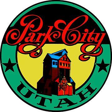 Park City Utah Vintage Travel Decal by hilda74