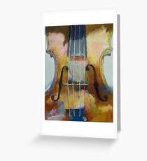 Violin Painting Greeting Card