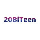 20BiTeen Galaxy Letters - White Background by Benjamin Ace