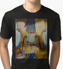Violin Painting Tri-blend T-Shirt