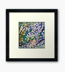 Sakura Oil Painting Framed Print