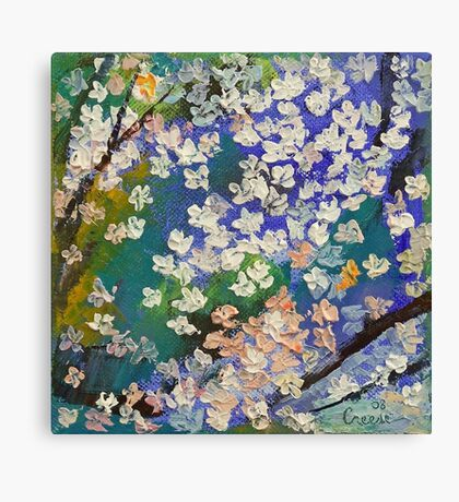 Sakura Oil Painting Canvas Print