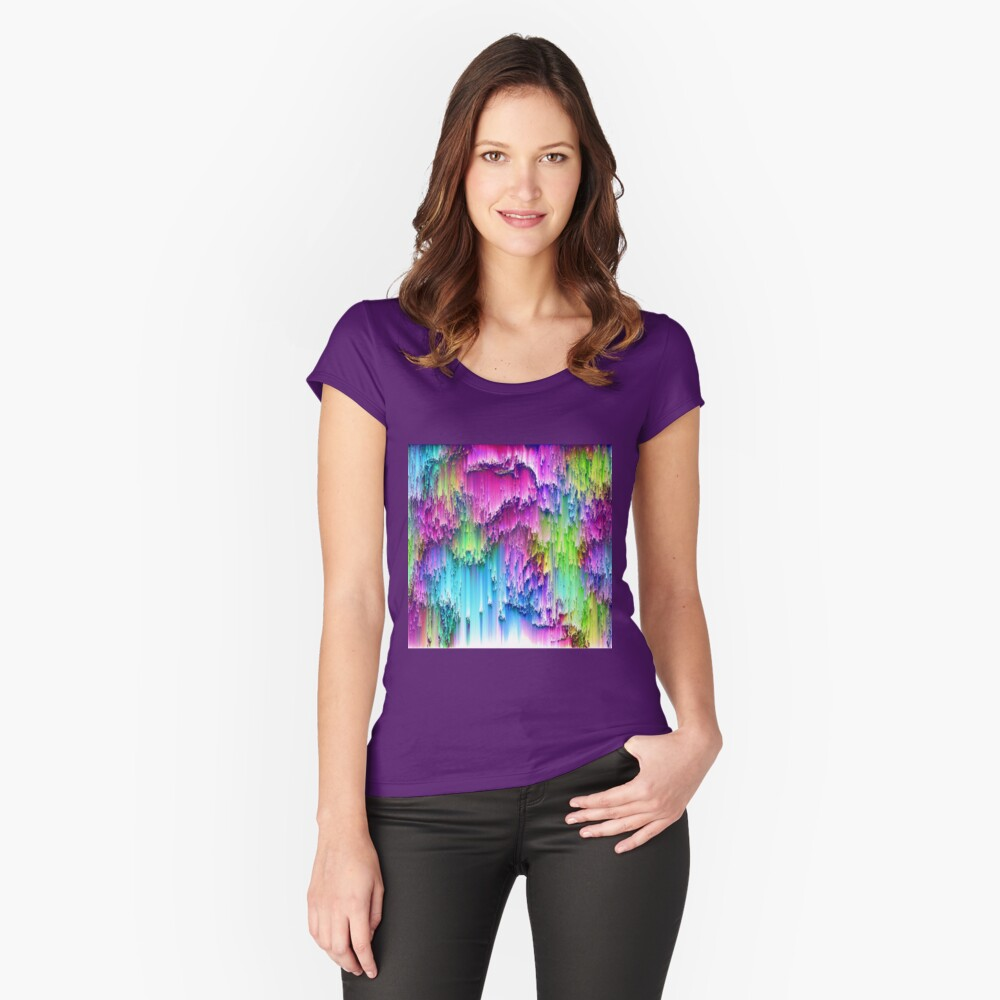 Abstraction... Fitted Scoop T-Shirt