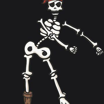 Floss Dance Skeleton Pirate Art | Halloween Flossing Gift by melsens