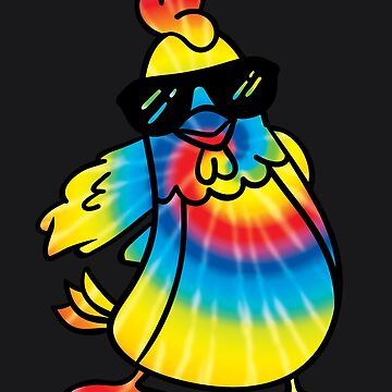 Floss Like A Boss Funny Tie Dye Chicken Flossing Gift by melsens