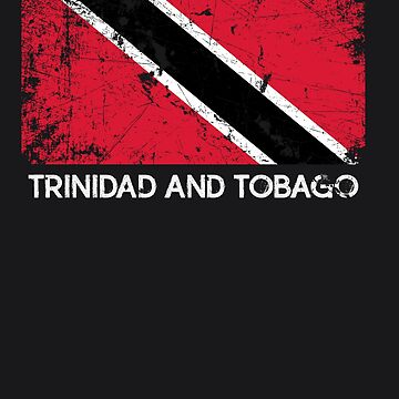 Flag Design | Vintage Made In Trinidad and Tobago Gift by melsens