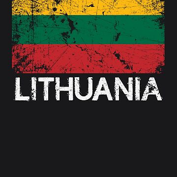 Lithuanian Flag Design | Vintage Made In Lithuania Gift by melsens